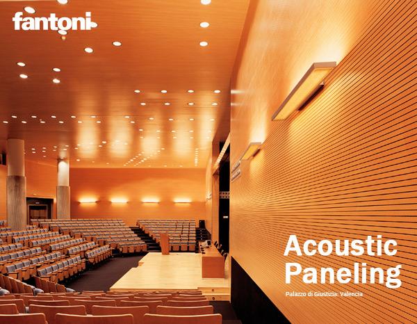 News acoustic paneling for Fantoni arredamenti